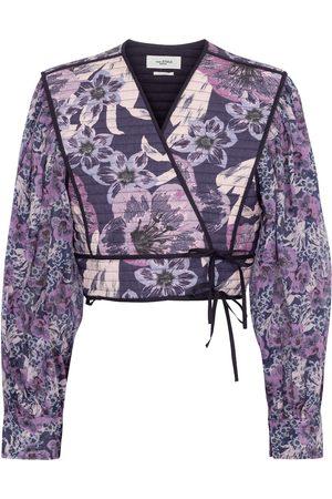 Isabel Marant Halita floral cropped blouse