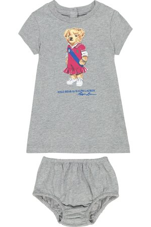 Ralph Lauren Baby Polo Bear cotton dress and bloomers set