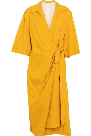 DRIES VAN NOTEN Cotton-blend wrap dress