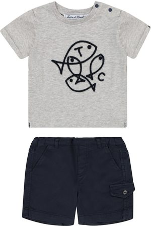 Tartine Et Chocolat Baby cotton T-shirt and shorts set