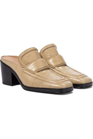 Bottega Veneta Croc-effect leather mules