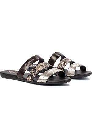 Hogan Valencia leather sandals