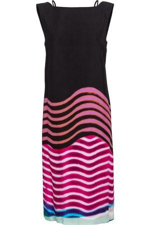 DRIES VAN NOTEN Printed boatneck midi dress