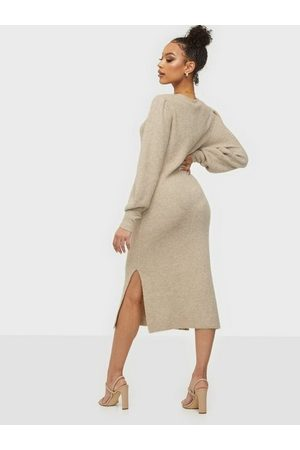 Noisy May Nmemma L/S Long Dress Bg Chateau Gray