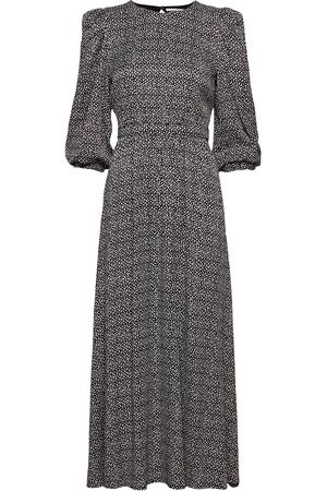 Gestuz Dame Midikjoler - Ilagz Midi Dress Knelang Kjole Multi/mønstret