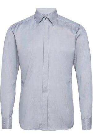 Eton White Geometrical Jacquard Weave Shirt – French Cuffs Skjorte Business