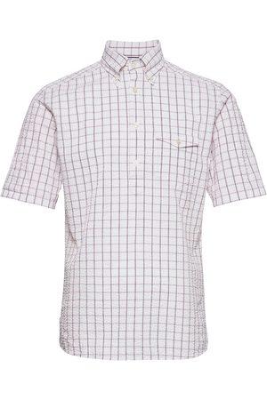 Eton Herre Kortermede - Casual Fit Casual Poplin Shirt Kortermet Skjorte Hvit
