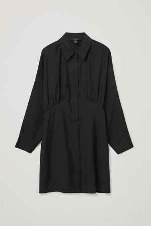 COS GATHERED SHIRT DRESS