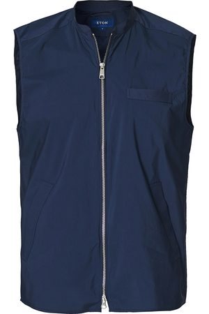 Eton Cotton/Nylon Unlined Waistcoat Navy