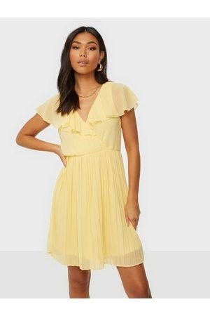 Vila Dame Kjoler - Vikatelyn S/S Pleated Dress/Dc/Su