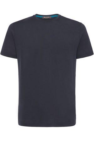 Loro Piana Herre Kortermede - Silk & Cotton Soft Jersey T-shirt
