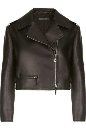 Giuseppe Zanotti Dame Skinnjakker - Cropped biker jacket