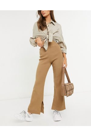 4th & Reckless Knitted wide leg crop trousers in