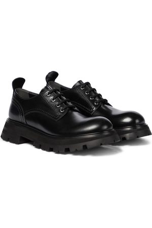 Alexander McQueen Dame Pensko - Wander leather Derby shoes