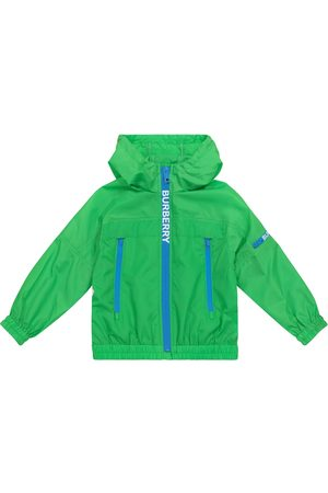 Burberry Logo hooded technical jacket