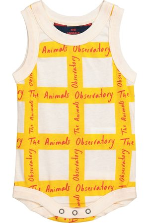 The Animals Observatory Baby Turtle checked cotton bodysuit