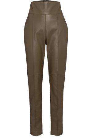 ALEXANDRE VAUTHIER High-rise slim leather pants