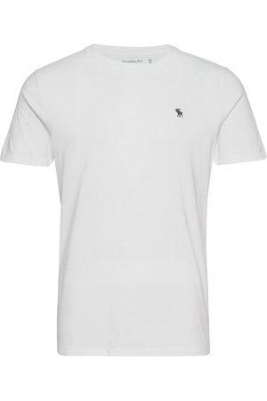 Abercrombie & Fitch Herre Kortermede - Anf Mens Knits T-shirts Short-sleeved Hvit