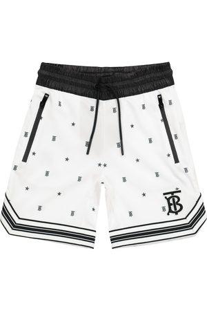 Burberry Kids Gutt Shorts - Logo technical-jersey shorts