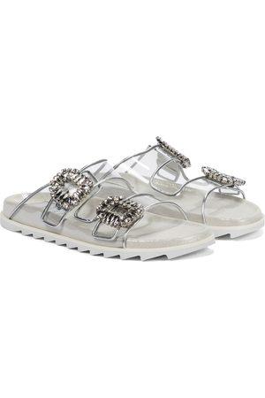 Roger Vivier Slidy Viv' leather and PVC sandals