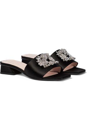 Roger Vivier RV Bouquet Strass satin sandals