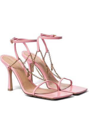 Bottega Veneta Stretch chain-trimmed leather sandals