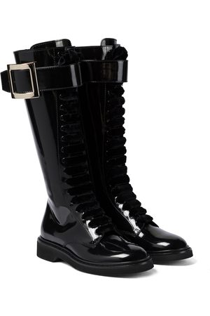 Roger Vivier Viv' Rangers patent leather knee-high boots