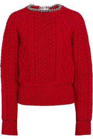 Bottega Veneta Embellished cable-knit wool sweater