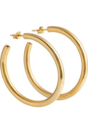 Tilly Sveaas Exclusive to Mytheresa – Large 18kt gold-plated hoop earrings