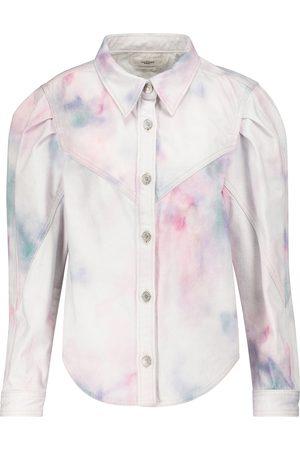 Isabel Marant Leona tie-dye denim jacket