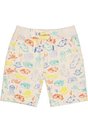 BONPOINT Printed cotton jersey shorts