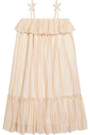 BONPOINT Samantha striped cotton-blend dress