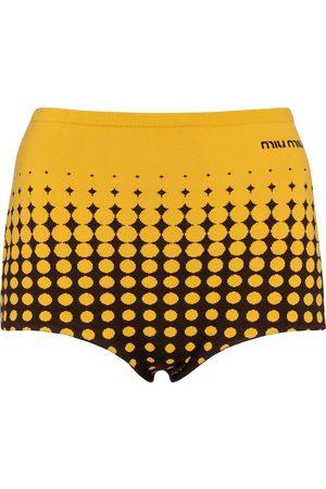 Miu Miu Dame Shorts - Jacquard knit shorts
