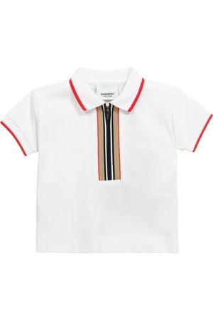 Burberry Baby Icon Stripe cotton piqué polo shirt