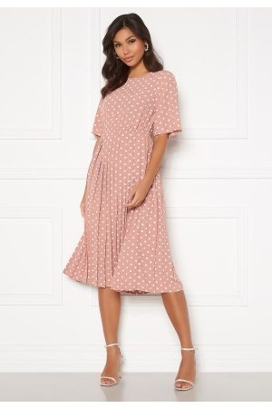 Happy Holly Eloise pleated dress Pink / Dotted 36/38
