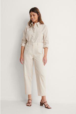 NA-KD Dame Cargobukser - Soft Cotton Cargo Pants