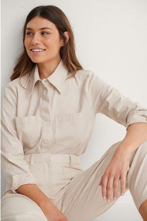 NA-KD Dame Vårjakker - Soft Cotton Overshirt