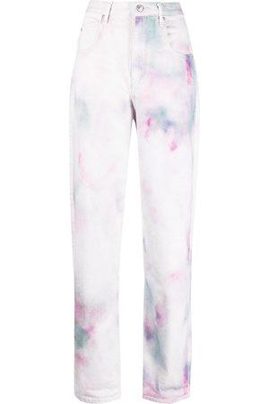 Isabel Marant Étoile Dame Straight - Tie-dye print straight jeans