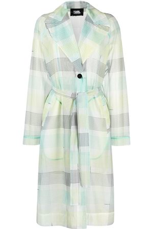 Karl Lagerfeld Dame Trenchcoats - Checked organza trench coat
