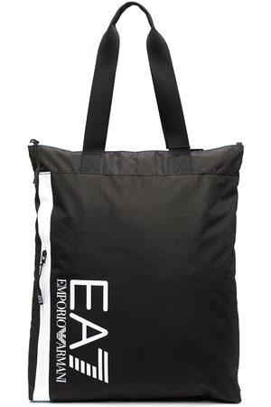EA7 Logo print tote
