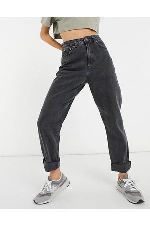 ASOS High rise 'slouchy' mom jeans in washed black