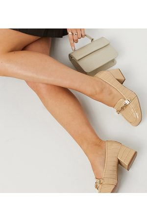 ASOS Dame Loafers - Wide Fit Sinclair square toe loafers in -Neutral