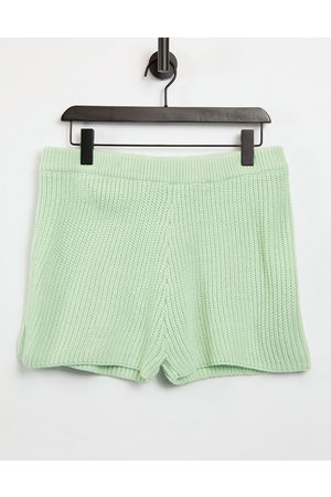 ASOS Mix & match lounge knitted short in green-Multi