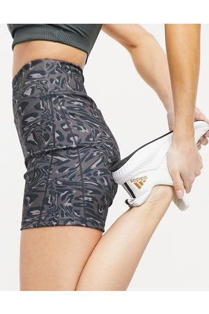 South Beach Performance legging shorts in distorted leopard print-Multi