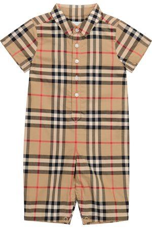 Burberry Kids Sparkebukser - Baby Vintage Check cotton onesie