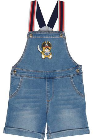 Moschino Kids Jente Playsuits - Baby denim overalls