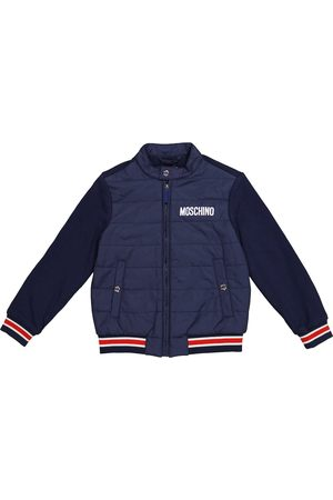 Moschino Kids Quilted cotton jacket
