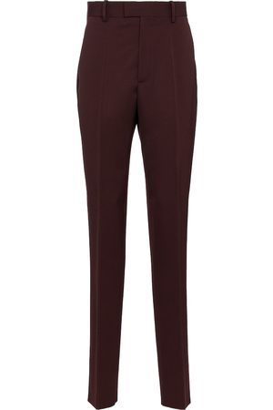 Bottega Veneta Dame Chinos - High-rise slim wool pants