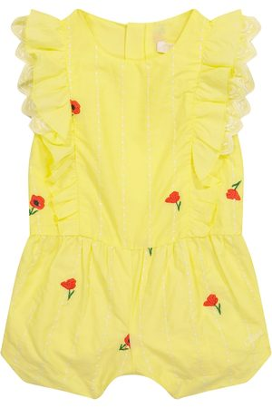 Chloé Kids Body - Baby embroidered cotton bodysuit