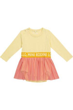 Mini Rodini Kjoler - Baby cotton and tulle dress